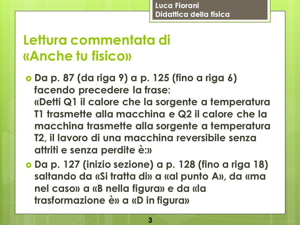 Luca Fiorani Didattica della fisica Lettura commentata di «Anche tu fisico»  P.