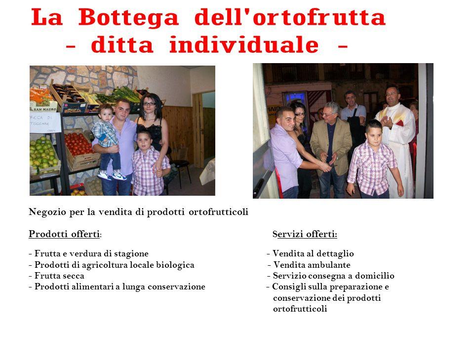 Negozio per la vendita di prodotti ortofrutticoli Prodotti offerti : S ervizi offerti: - Frutta e verdura di stagione - Vendita al dettaglio - Prodott