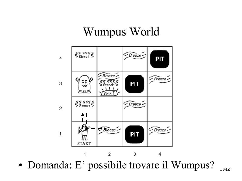 FMZ Wumpus World Domanda: E' possibile trovare il Wumpus