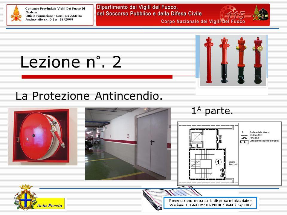 Lezione n°. 2 La Protezione Antincendio. 1 A parte.