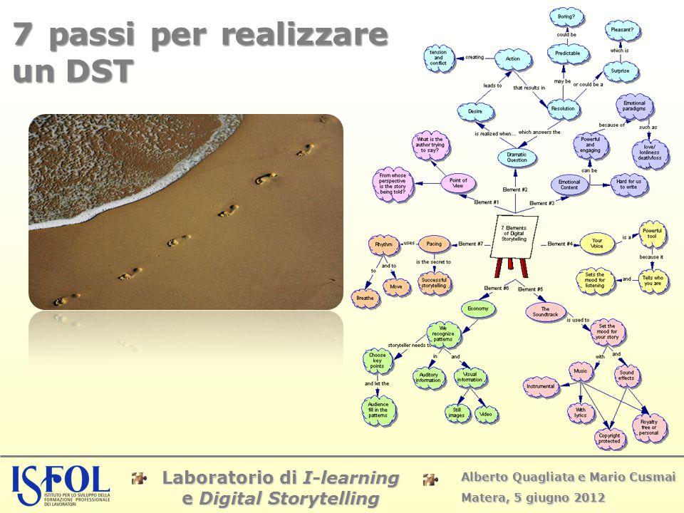 Laboratorio di I-learning e Digital Storytelling Alberto Quagliata e Mario Cusmai Matera, 5 giugno 2012 7 passi per realizzare un DST