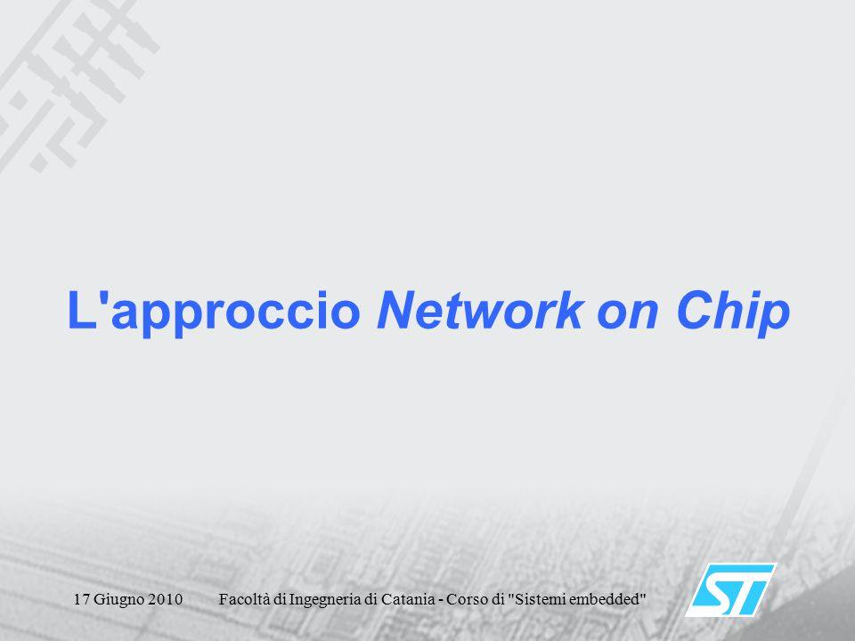 17 Giugno 2010Facoltà di Ingegneria di Catania - Corso di Sistemi embedded L approccio Network on Chip