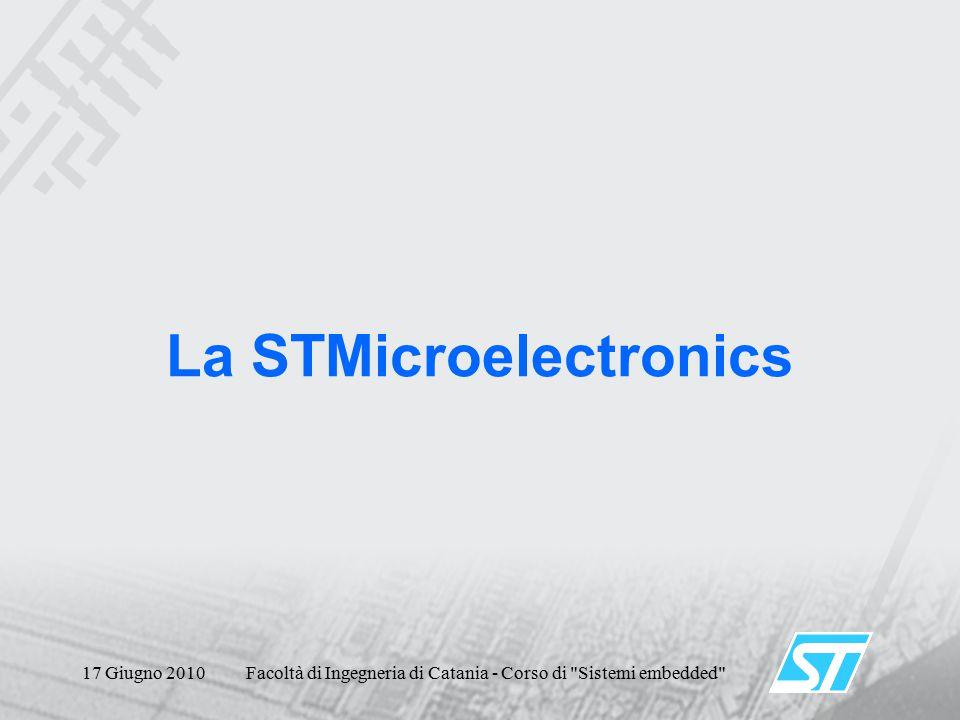 17 Giugno 2010Facoltà di Ingegneria di Catania - Corso di Sistemi embedded La STMicroelectronics