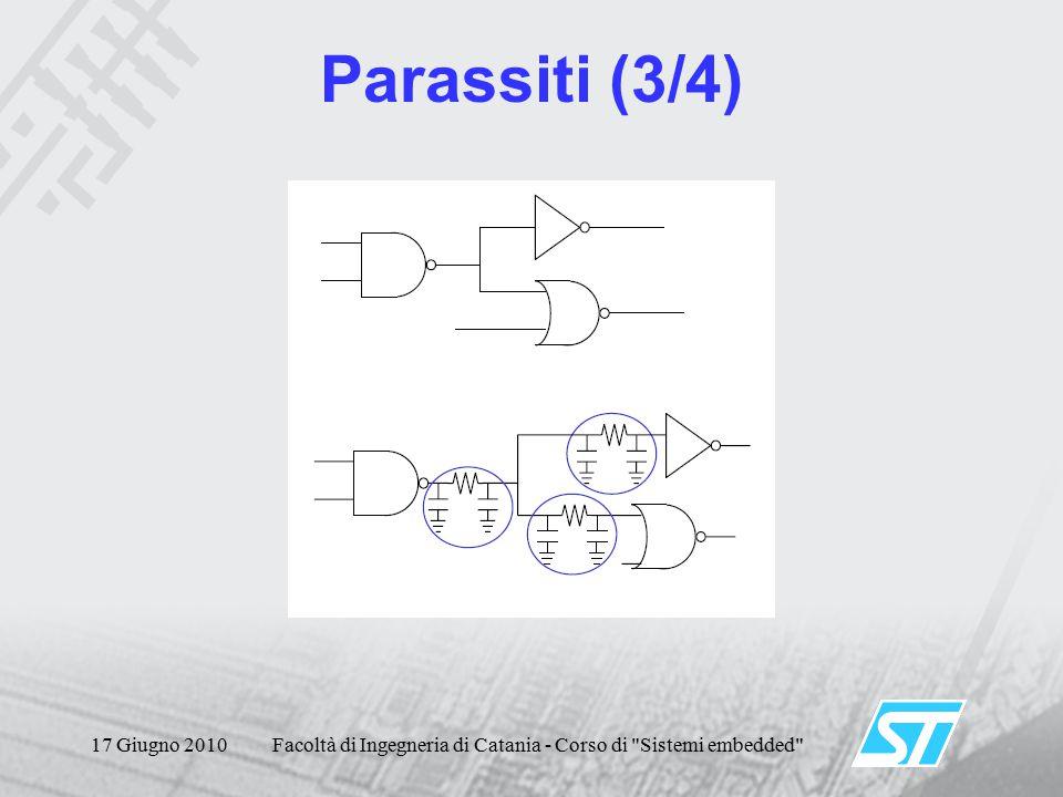 17 Giugno 2010Facoltà di Ingegneria di Catania - Corso di Sistemi embedded Parassiti (3/4)