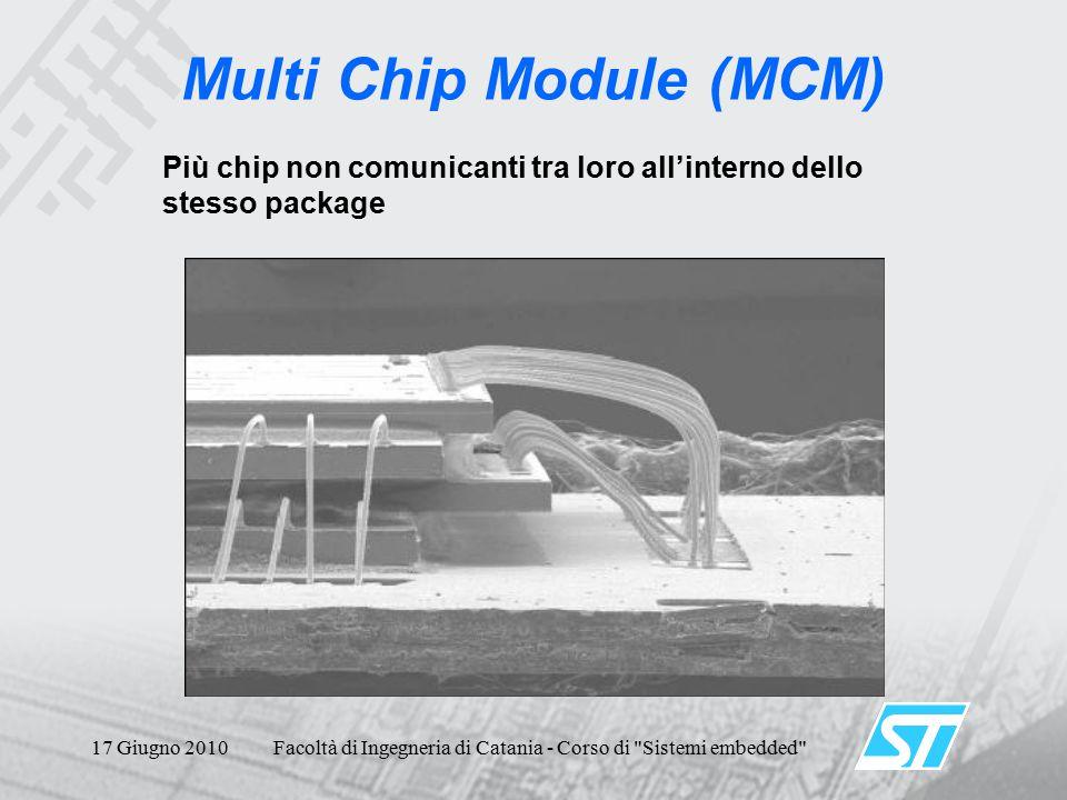 17 Giugno 2010Facoltà di Ingegneria di Catania - Corso di Sistemi embedded Multi Chip Module (MCM) Più chip non comunicanti tra loro all'interno dello stesso package