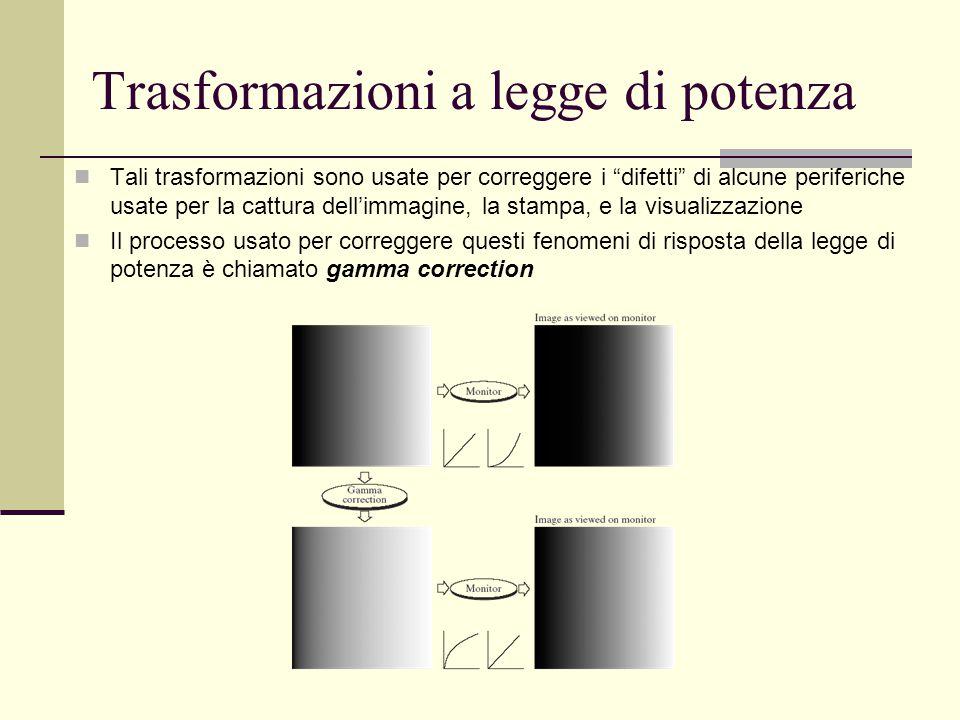 """Tali trasformazioni sono usate per correggere i """"difetti"""" di alcune periferiche usate per la cattura dell'immagine, la stampa, e la visualizzazione Il"""