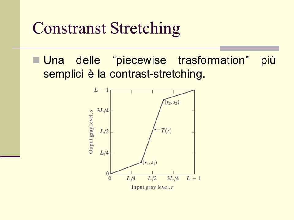 "Constranst Stretching Una delle ""piecewise trasformation"" più semplici è la contrast-stretching."