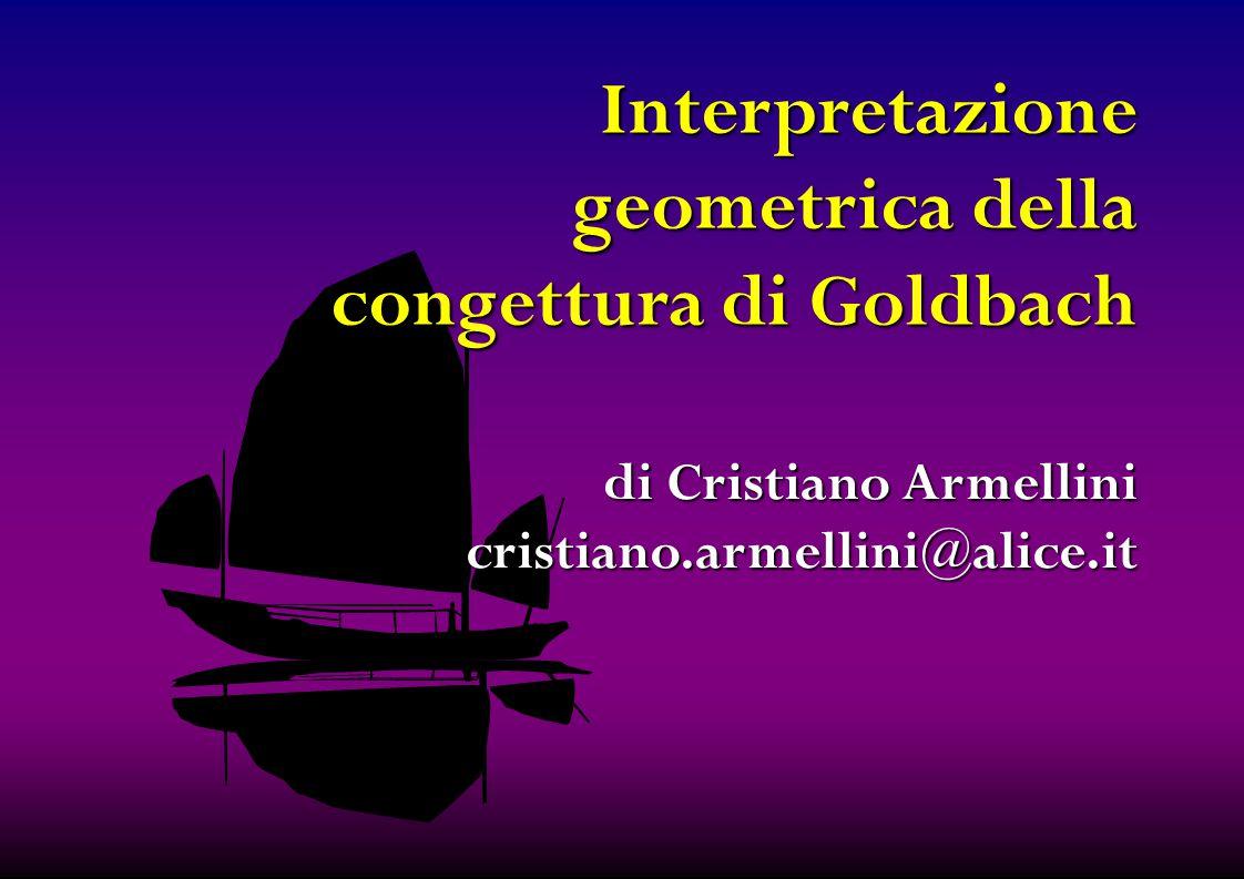 Interpretazione geometrica della congettura di Goldbach di Cristiano Armellini cristiano.armellini@alice.it