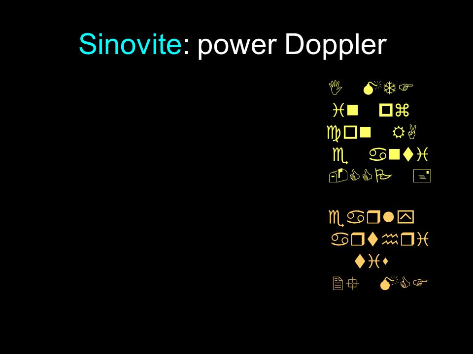 Sinovite: power Doppler         