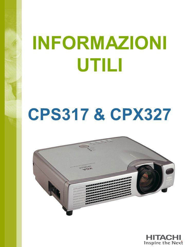 INFORMAZIONI UTILI CPS317 & CPX327