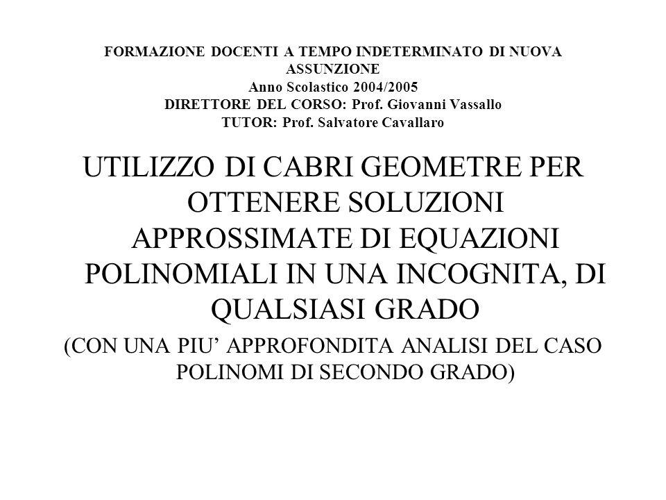 FORMAZIONE DOCENTI A TEMPO INDETERMINATO DI NUOVA ASSUNZIONE Anno Scolastico 2004/2005 DIRETTORE DEL CORSO: Prof. Giovanni Vassallo TUTOR: Prof. Salva