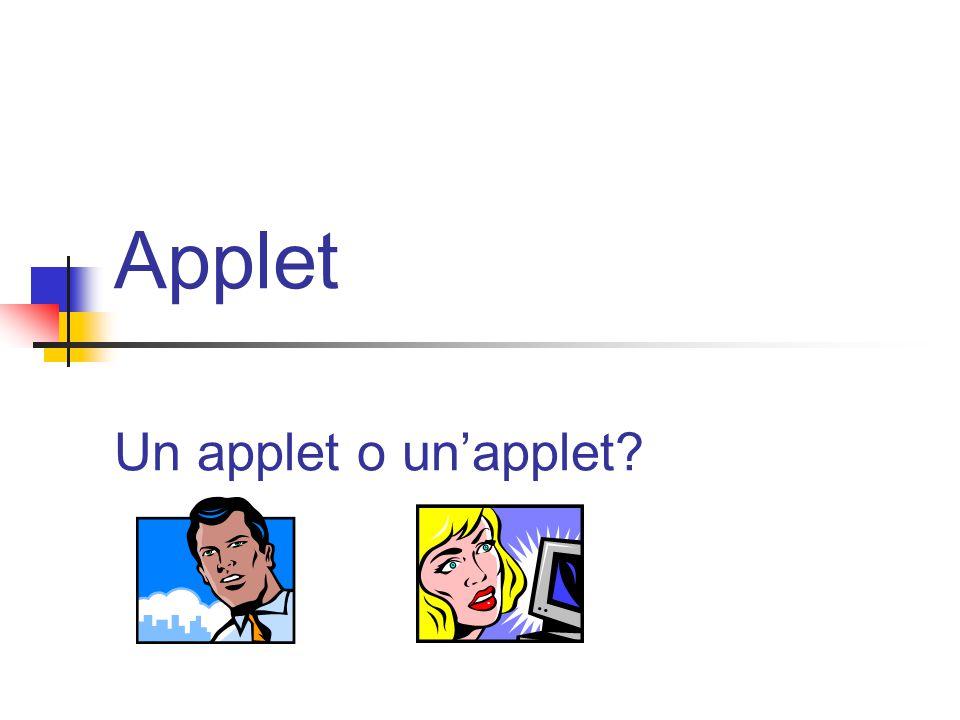 Applet Un applet o un'applet?