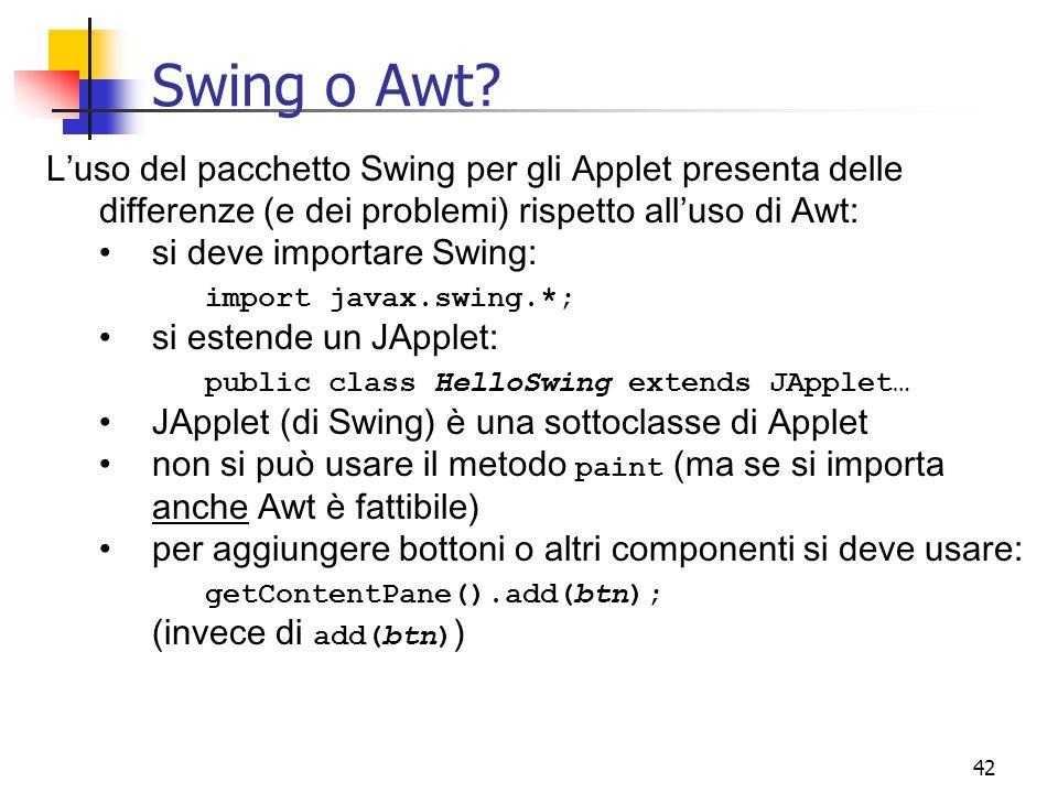 42 Swing o Awt.