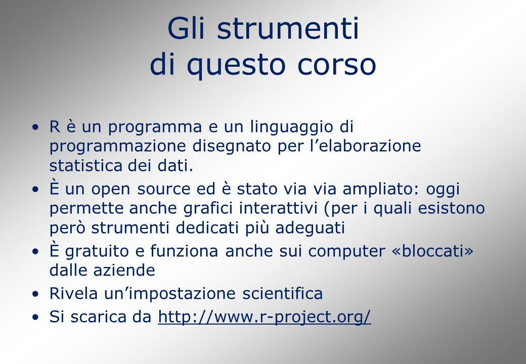 R è un programma e un linguaggio di programmazione disegnato per l'elaborazione statistica dei dati. È un open source ed è stato via via ampliato: ogg