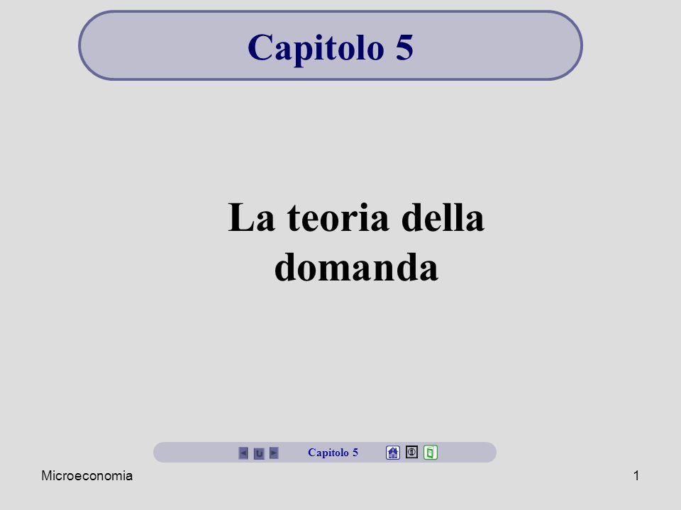 Microeconomia1 La teoria della domanda Capitolo 5