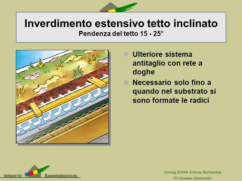 Vortrag 071004 Schloss Rechtenthal DI Christian Oberbichler Ulteriore sistema antitaglio con rete a doghe Necessario solo fino a quando nel substrato