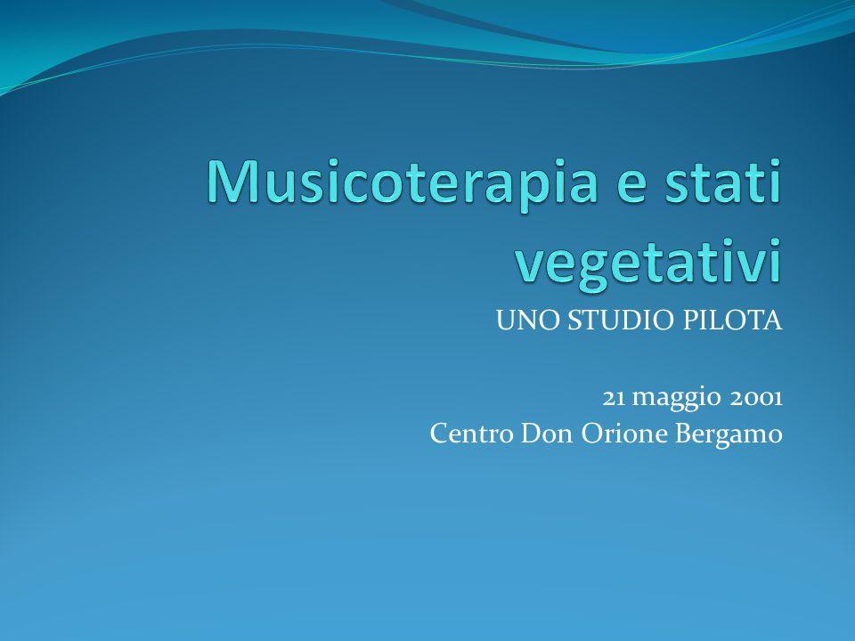 UNO STUDIO PILOTA 21 maggio 2001 Centro Don Orione Bergamo