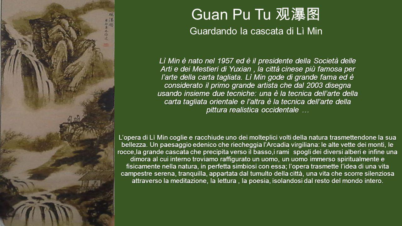 Lì Min è nato nel 1957 ed è il presidente della Società delle Arti e dei Mestieri di Yuxian, la città cinese più famosa per l'arte della carta tagliata.