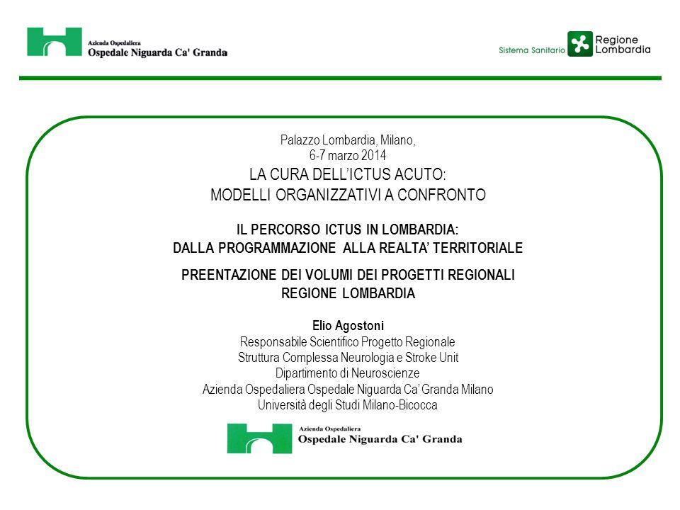 Palazzo Lombardia, Milano, 6-7 marzo 2014 LA CURA DELL'ICTUS ACUTO: MODELLI ORGANIZZATIVI A CONFRONTO IL PERCORSO ICTUS IN LOMBARDIA: DALLA PROGRAMMAZ