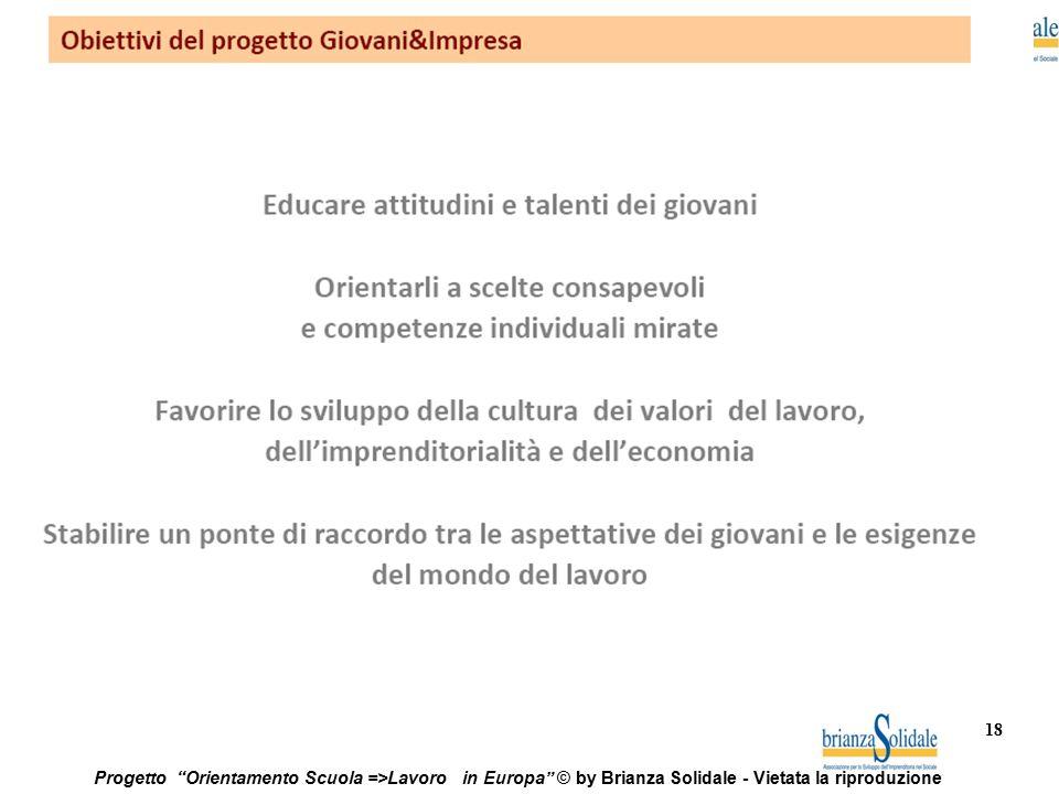 """18 Progetto """"Orientamento Scuola =>Lavoro in Europa"""" © by Brianza Solidale - Vietata la riproduzione"""
