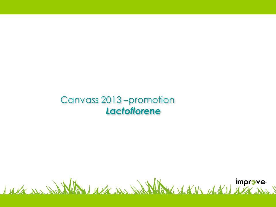 Canvass 2013 –promotion Lactoflorene Canvass 2013 –promotion Lactoflorene