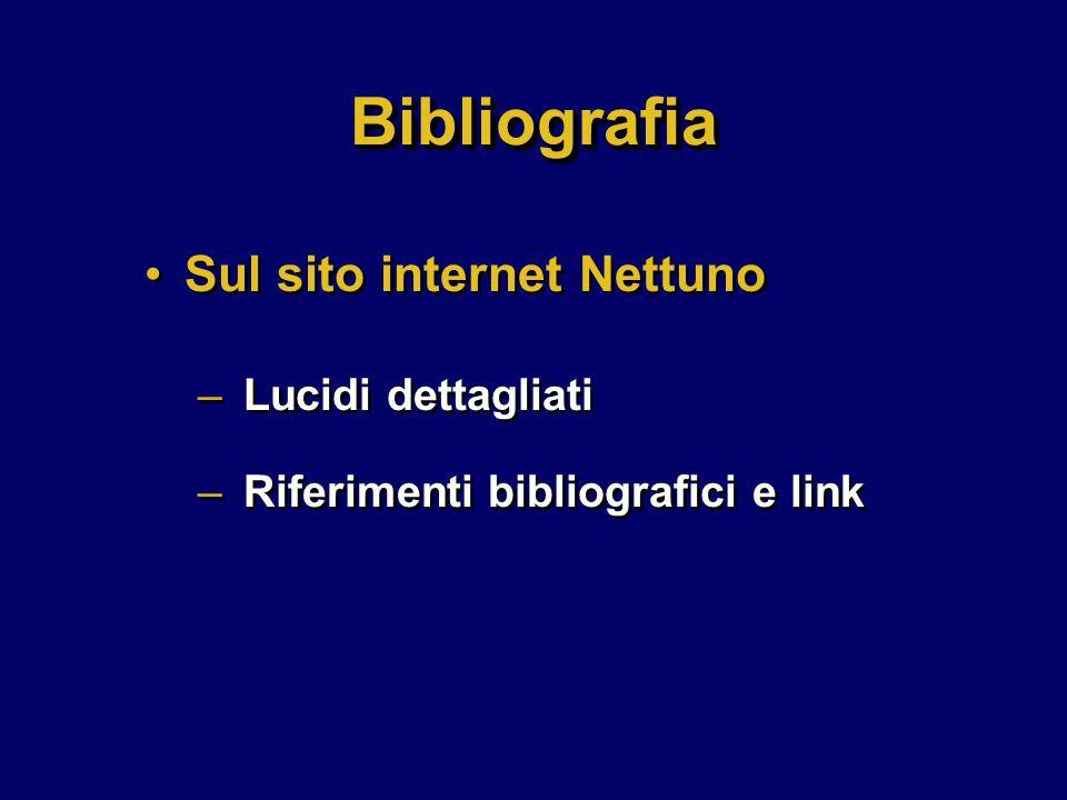 Sul sito internet Nettuno – Lucidi dettagliati – Riferimenti bibliografici e link Sul sito internet Nettuno – Lucidi dettagliati – Riferimenti bibliografici e link BibliografiaBibliografia