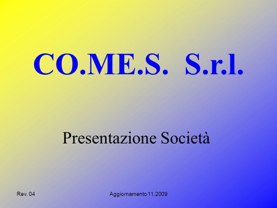 Rev.04Aggiornamento 11.2009 La CO.ME.S. opera all'interno del consorzio CO.ME.SA.