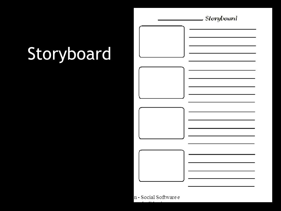 Storyboard Deborah Gemin - Social Software e Web 2.0 per la didattica