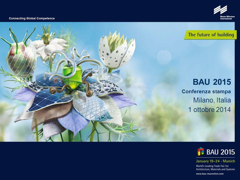 2 L agenda dei prossimi 45 minuti: Video di BAU 2013 Profilo / Posizionamento Dati principali di BAU 2013 Aree espositive / Tematiche principali / Categorie di operatori Mostre speciali Programma dei forum Eventi del programma collaterale Servizi ai visitatori Monaco di Baviera: città di classe, fiere di classe
