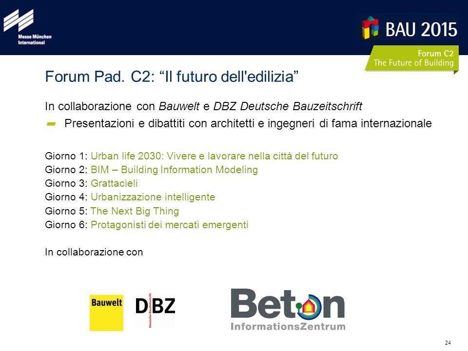 24 In collaborazione con Bauwelt e DBZ Deutsche Bauzeitschrift Presentazioni e dibattiti con architetti e ingegneri di fama internazionale Giorno 1: U