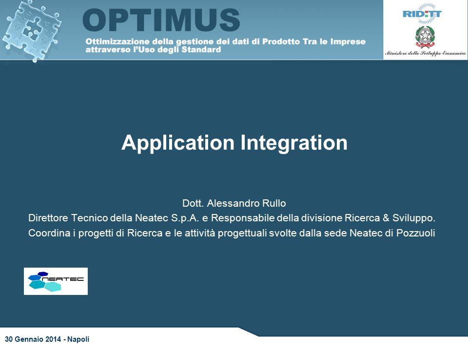 Application Integration Dott. Alessandro Rullo Direttore Tecnico della Neatec S.p.A.