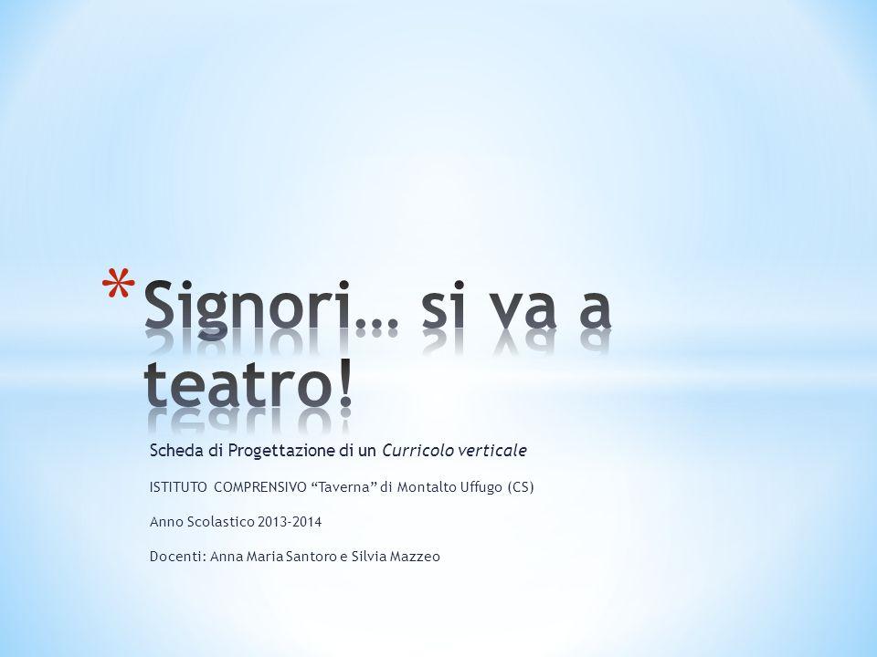 """Scheda di Progettazione di un Curricolo verticale ISTITUTO COMPRENSIVO """"Taverna"""" di Montalto Uffugo (CS) Anno Scolastico 2013-2014 Docenti: Anna Maria"""