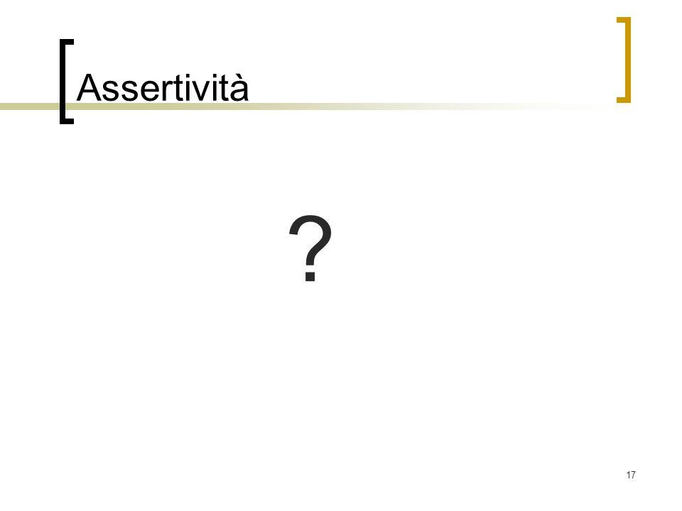 17 Assertività ?