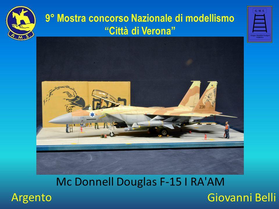 """Giovanni Belli Mc Donnell Douglas F-15 I RA'AM 9° Mostra concorso Nazionale di modellismo """"Città di Verona"""" Argento"""