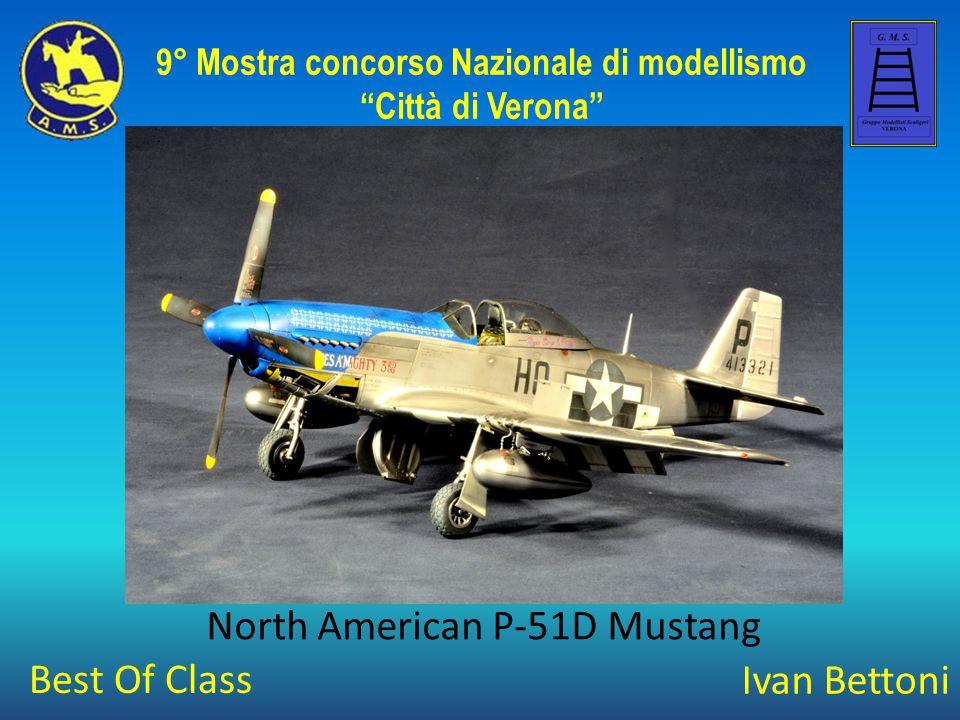 """Ivan Bettoni North American P-51D Mustang 9° Mostra concorso Nazionale di modellismo """"Città di Verona"""" Best Of Class"""