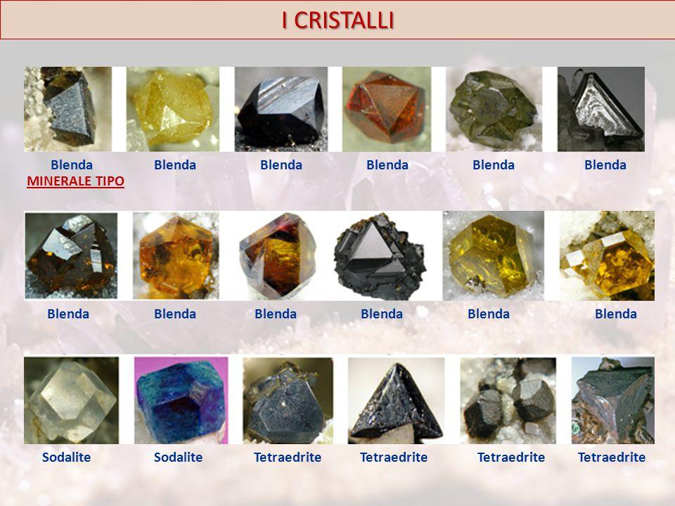 I CRISTALLI Blenda Sodalite Tetraedrite MINERALE TIPO