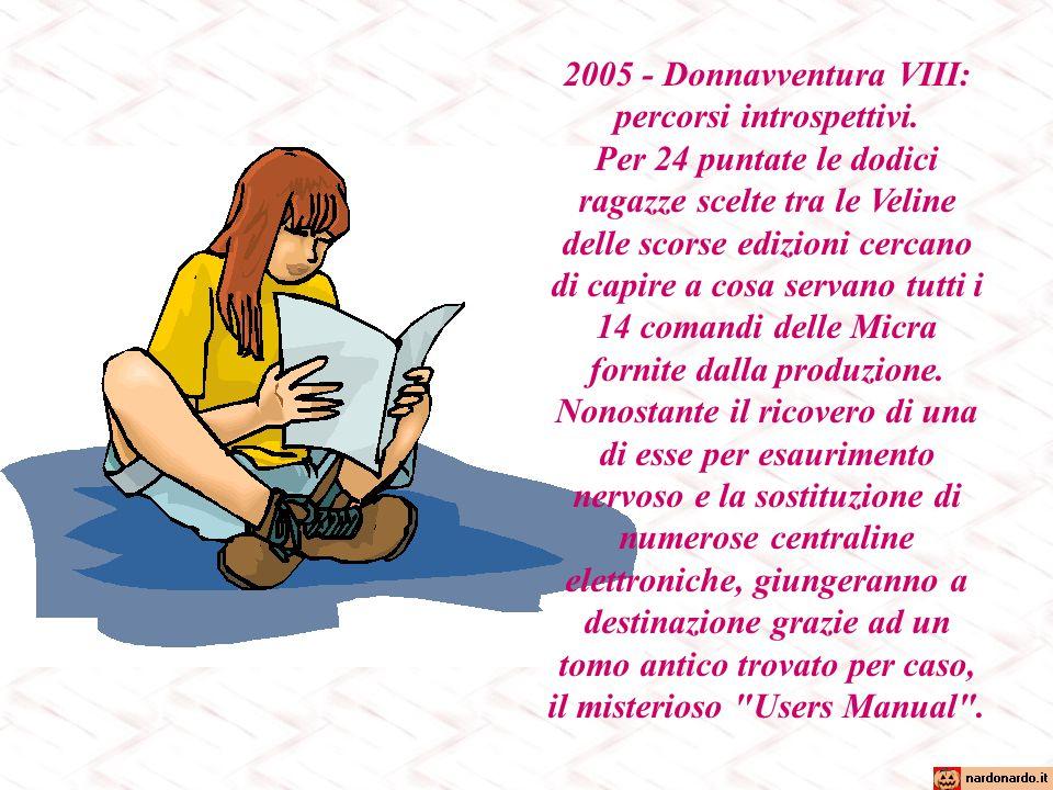 2005 - Donnavventura VIII: percorsi introspettivi.