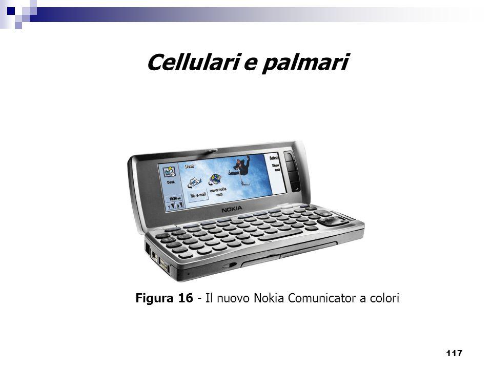 117 Cellulari e palmari Figura 16 - Il nuovo Nokia Comunicator a colori