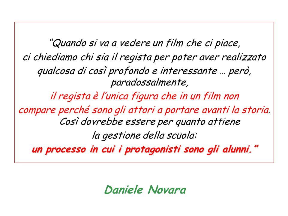 """Daniele Novara """"Quando si va a vedere un film che ci piace, ci chiediamo chi sia il regista per poter aver realizzato qualcosa di così profondo e inte"""