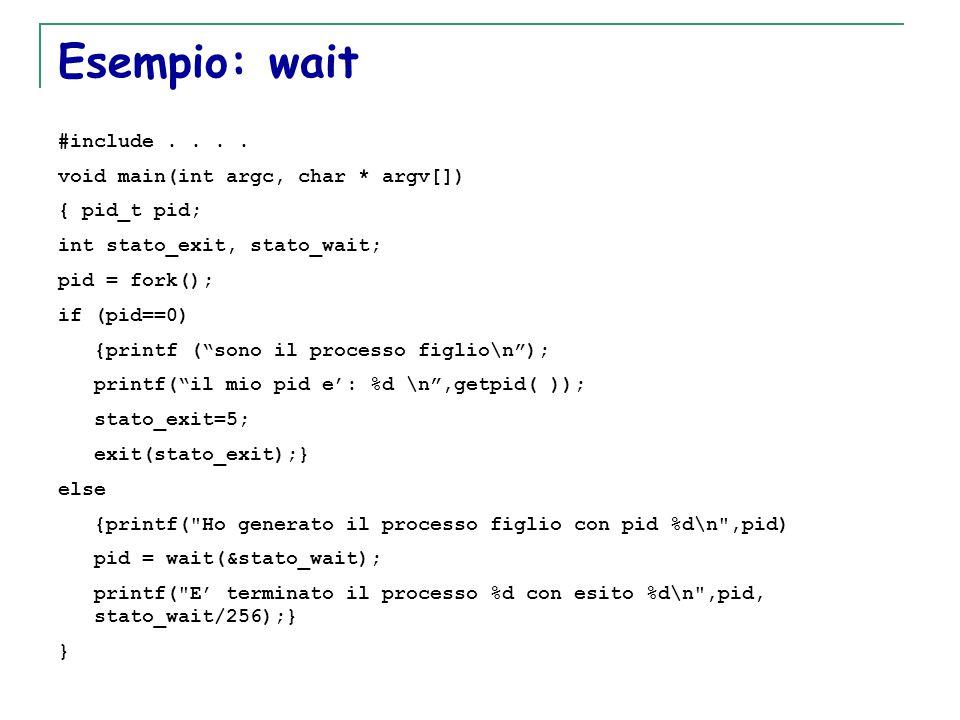 T. Motta Generazione e terminazione processi 32 Esempio: wait #include....