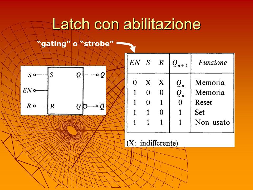 """Latch con abilitazione """"gating"""" o """"strobe"""""""