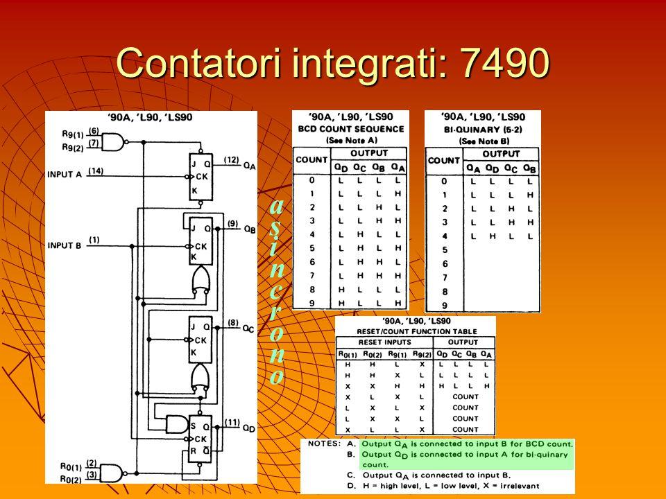 Contatori integrati: 7490 a s i n c r o n o