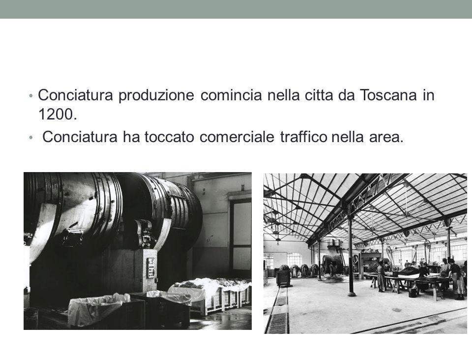 Conseguenze da Conciatura Conciatura ha diventato molto popolare in Toscana.