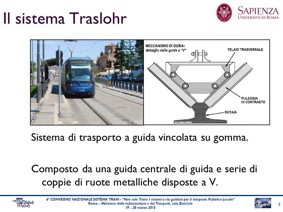 Il sistema Traslohr Sistema di trasporto a guida vincolata su gomma.