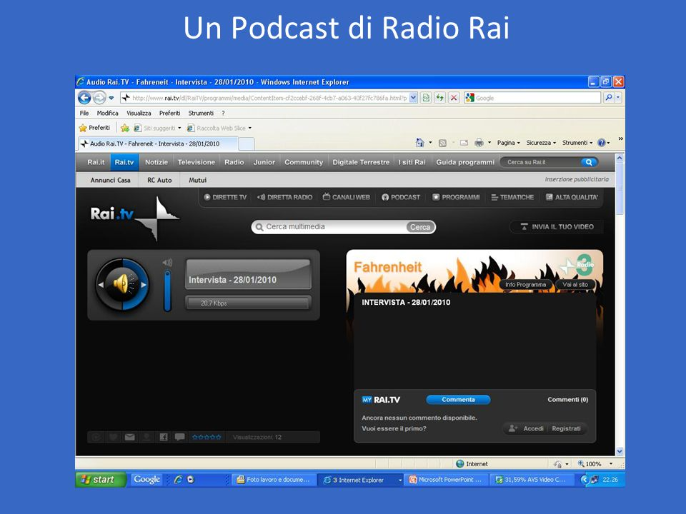Un Podcast di Radio Rai