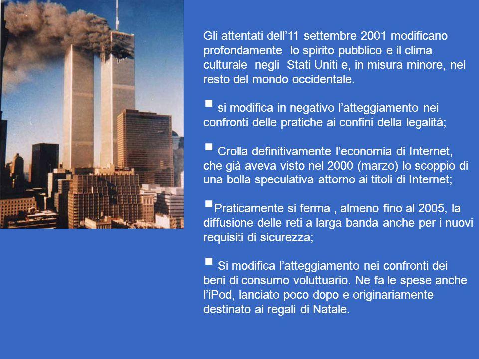Gli attentati dell'11 settembre 2001 modificano profondamente lo spirito pubblico e il clima culturale negli Stati Uniti e, in misura minore, nel resto del mondo occidentale.