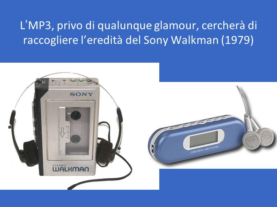 L'MP3, privo di qualunque glamour, cercherà di raccogliere l'eredità del Sony Walkman (1979)