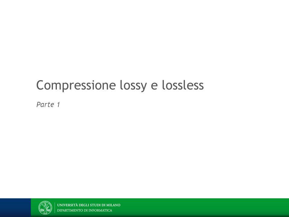Codifica basata sul dizionario (lossless) Architettura dell informazione Prof.