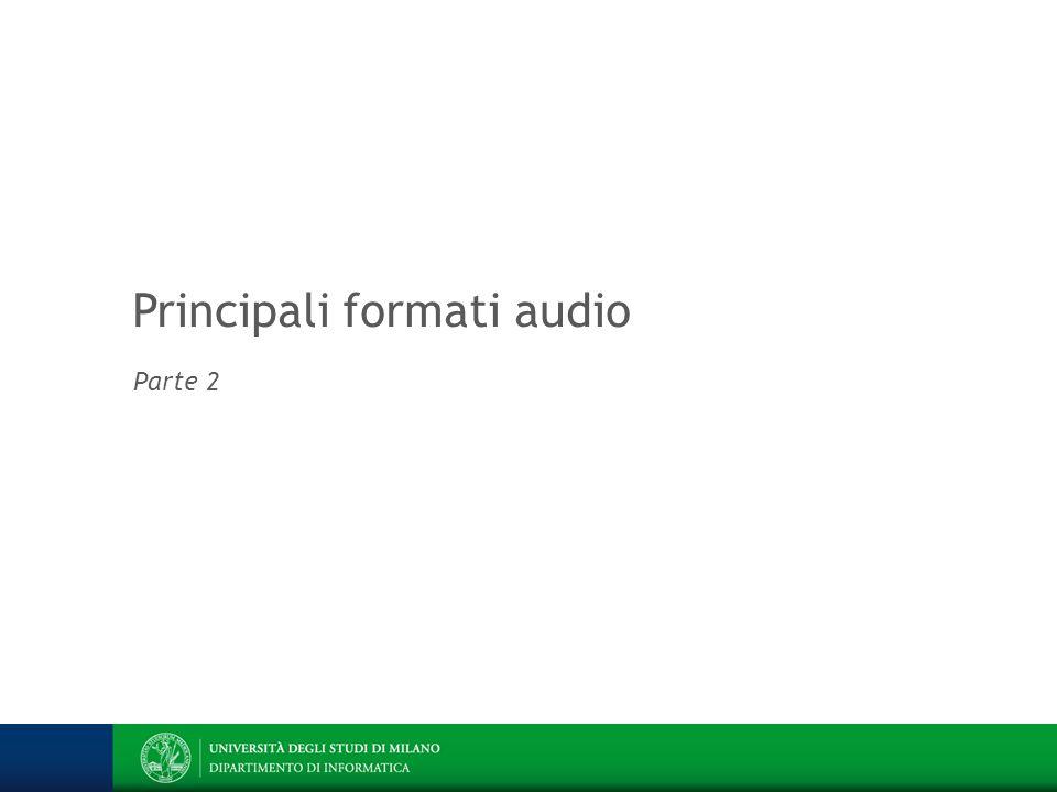 Principali formati audio Parte 2