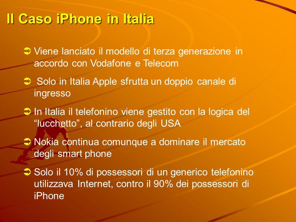 Il Caso iPhone in Italia  Viene lanciato il modello di terza generazione in accordo con Vodafone e Telecom  Solo in Italia Apple sfrutta un doppio c